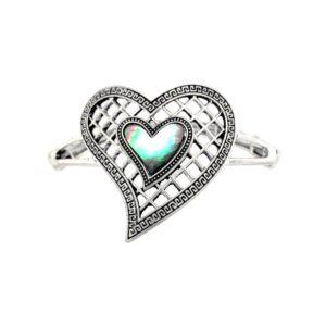 Armband Herz Opal
