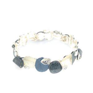 Armband grau weiß silber