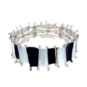 Armband schwarz weiß