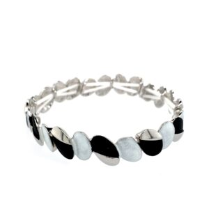 Armband schwarz silber weiß