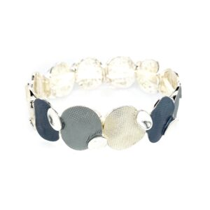 Armband grau silber