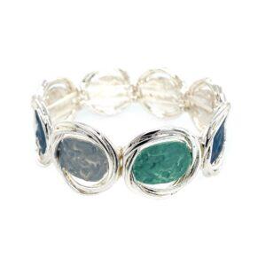 Armband blau grau türkis