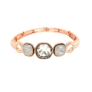 Armband rotgold kristall