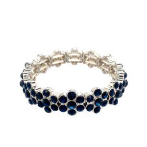 Armband blau kleine Kristalle